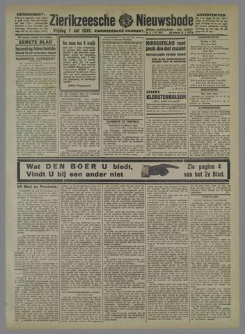 Zierikzeesche Nieuwsbode 1933-07-07