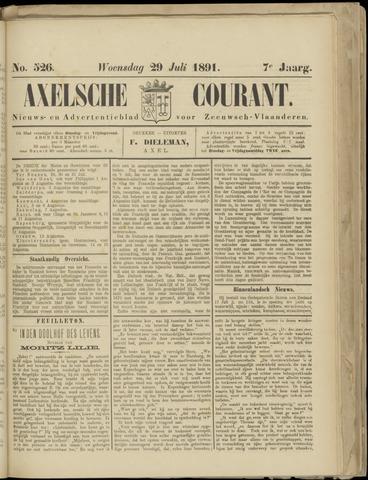 Axelsche Courant 1891-07-29
