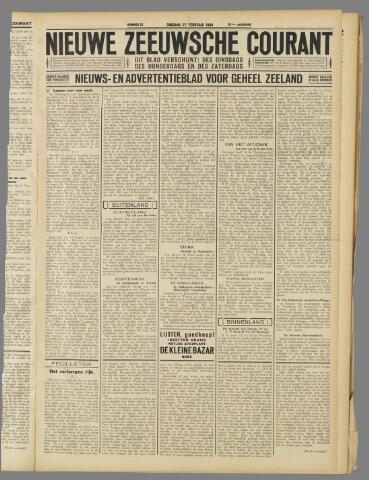 Nieuwe Zeeuwsche Courant 1934-02-27