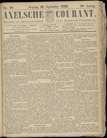 Axelsche Courant 1922-09-22