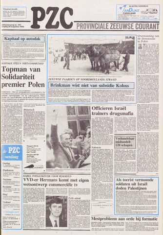 Provinciale Zeeuwse Courant 1989-08-25