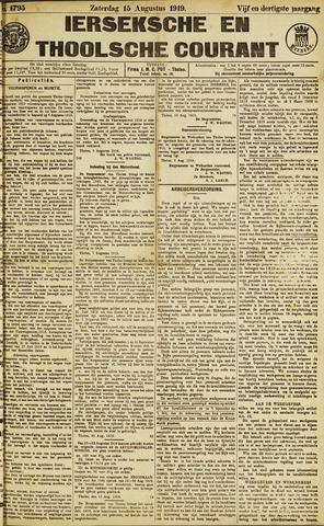 Ierseksche en Thoolsche Courant 1919-08-15