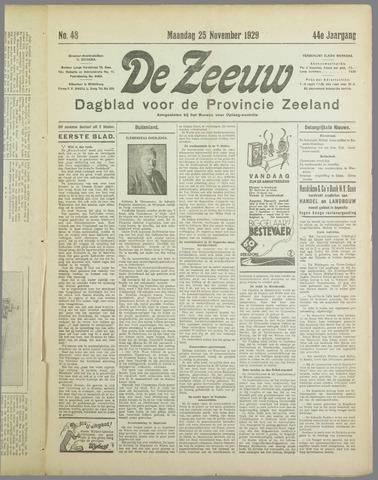 De Zeeuw. Christelijk-historisch nieuwsblad voor Zeeland 1929-11-25