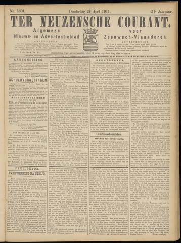 Ter Neuzensche Courant. Algemeen Nieuws- en Advertentieblad voor Zeeuwsch-Vlaanderen / Neuzensche Courant ... (idem) / (Algemeen) nieuws en advertentieblad voor Zeeuwsch-Vlaanderen 1911-04-27
