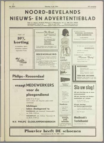 Noord-Bevelands Nieuws- en advertentieblad 1964-07-04