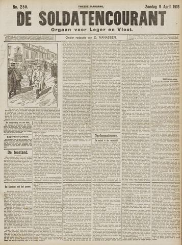 De Soldatencourant. Orgaan voor Leger en Vloot 1916-04-09