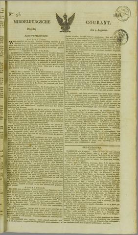 Middelburgsche Courant 1825-08-09