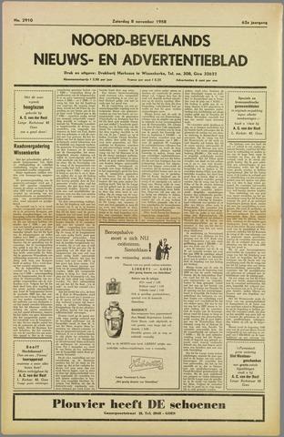 Noord-Bevelands Nieuws- en advertentieblad 1958-11-08