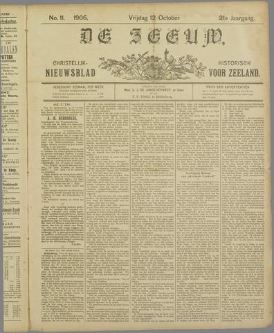 De Zeeuw. Christelijk-historisch nieuwsblad voor Zeeland 1906-10-12