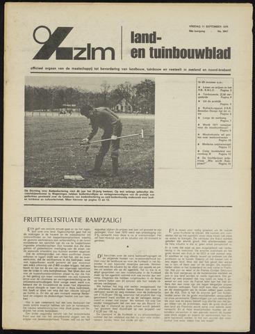 Zeeuwsch landbouwblad ... ZLM land- en tuinbouwblad 1970-09-09