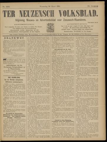 Ter Neuzensch Volksblad. Vrijzinnig nieuws- en advertentieblad voor Zeeuwsch- Vlaanderen / Zeeuwsch Nieuwsblad. Nieuws- en advertentieblad voor Zeeland 1915-03-24