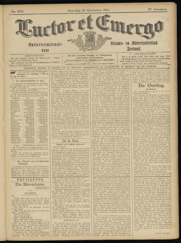 Luctor et Emergo. Antirevolutionair nieuws- en advertentieblad voor Zeeland / Zeeuwsch-Vlaanderen. Orgaan ter verspreiding van de christelijke beginselen in Zeeuwsch-Vlaanderen 1914-11-21