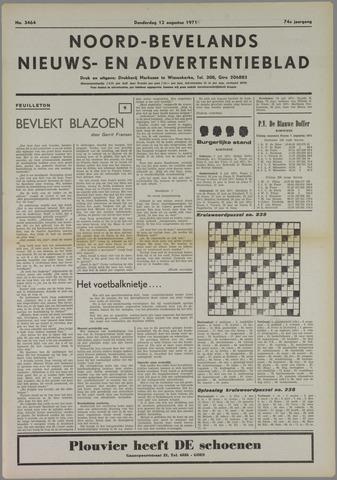 Noord-Bevelands Nieuws- en advertentieblad 1971-08-12