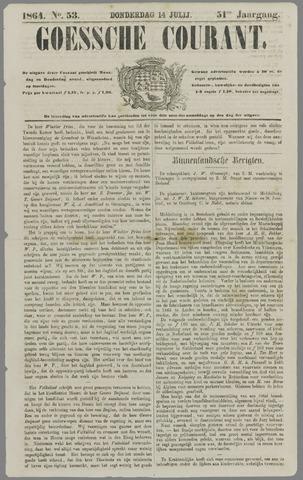 Goessche Courant 1864-07-14