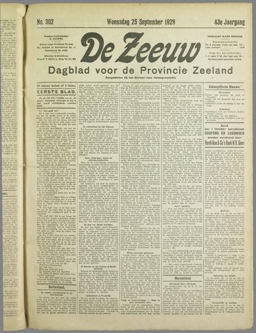 De Zeeuw. Christelijk-historisch nieuwsblad voor Zeeland 1929-09-25