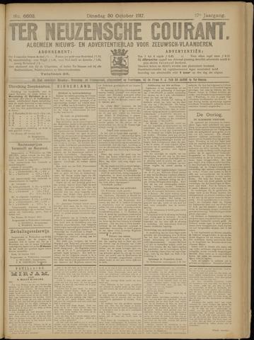 Ter Neuzensche Courant. Algemeen Nieuws- en Advertentieblad voor Zeeuwsch-Vlaanderen / Neuzensche Courant ... (idem) / (Algemeen) nieuws en advertentieblad voor Zeeuwsch-Vlaanderen 1917-10-30