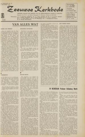 Zeeuwsche kerkbode, weekblad gewijd aan de belangen der gereformeerde kerken/ Zeeuwsch kerkblad 1963-12-06