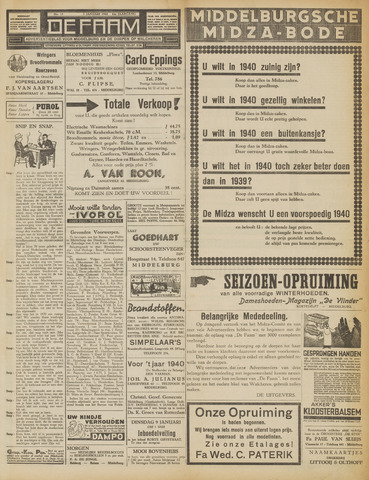 de Faam en de Faam/de Vlissinger 1940