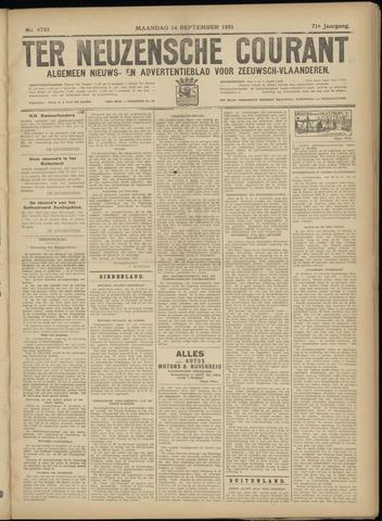 Ter Neuzensche Courant. Algemeen Nieuws- en Advertentieblad voor Zeeuwsch-Vlaanderen / Neuzensche Courant ... (idem) / (Algemeen) nieuws en advertentieblad voor Zeeuwsch-Vlaanderen 1931-09-14