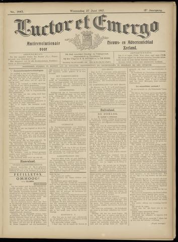 Luctor et Emergo. Antirevolutionair nieuws- en advertentieblad voor Zeeland / Zeeuwsch-Vlaanderen. Orgaan ter verspreiding van de christelijke beginselen in Zeeuwsch-Vlaanderen 1917-06-27