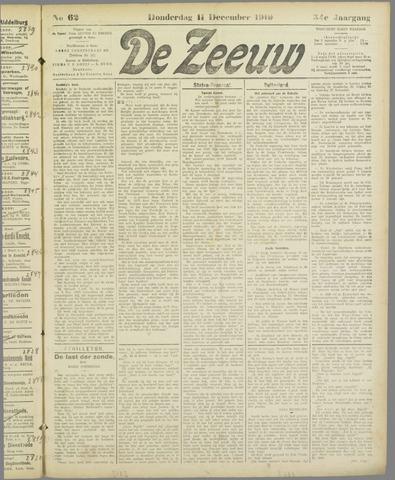 De Zeeuw. Christelijk-historisch nieuwsblad voor Zeeland 1919-12-11