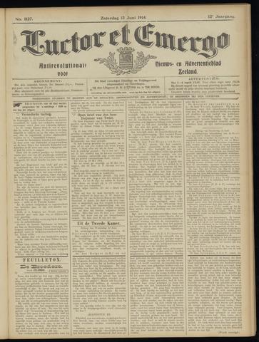 Luctor et Emergo. Antirevolutionair nieuws- en advertentieblad voor Zeeland / Zeeuwsch-Vlaanderen. Orgaan ter verspreiding van de christelijke beginselen in Zeeuwsch-Vlaanderen 1914-06-13