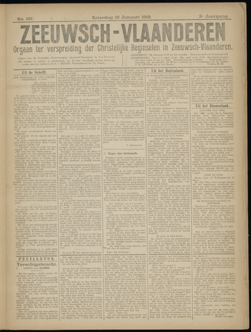 Luctor et Emergo. Antirevolutionair nieuws- en advertentieblad voor Zeeland / Zeeuwsch-Vlaanderen. Orgaan ter verspreiding van de christelijke beginselen in Zeeuwsch-Vlaanderen 1919-01-18
