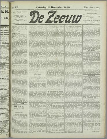 De Zeeuw. Christelijk-historisch nieuwsblad voor Zeeland 1920-12-11