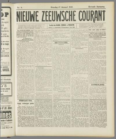 Nieuwe Zeeuwsche Courant 1911-01-17