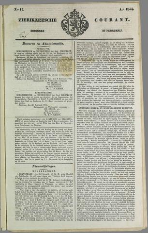 Zierikzeesche Courant 1844-02-27