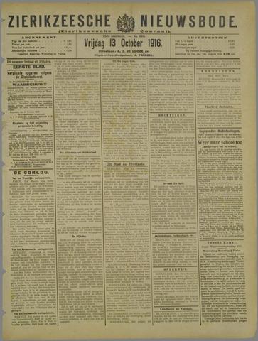 Zierikzeesche Nieuwsbode 1916-10-13
