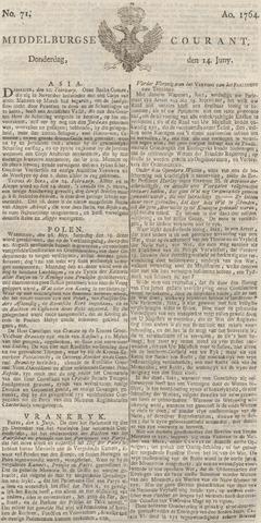 Middelburgsche Courant 1764-06-14
