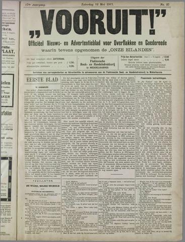 """""""Vooruit!""""Officieel Nieuws- en Advertentieblad voor Overflakkee en Goedereede 1917-05-12"""