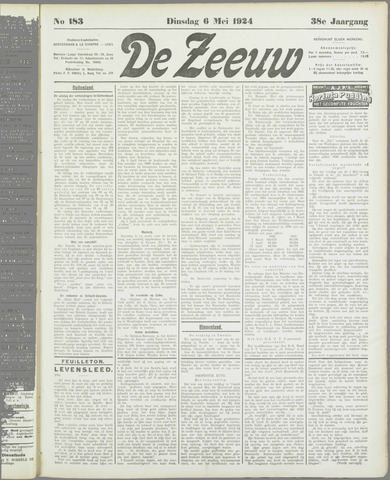 De Zeeuw. Christelijk-historisch nieuwsblad voor Zeeland 1924-05-06