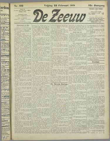 De Zeeuw. Christelijk-historisch nieuwsblad voor Zeeland 1918-02-22