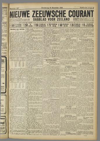 Nieuwe Zeeuwsche Courant 1922-11-16