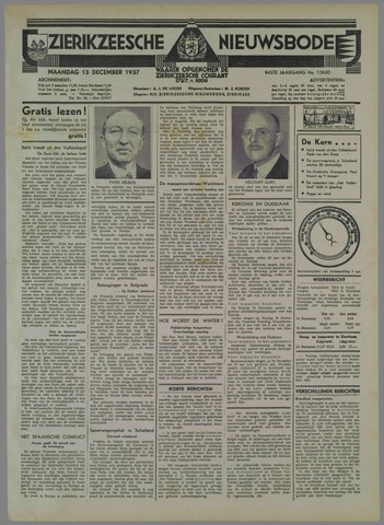 Zierikzeesche Nieuwsbode 1937-12-13