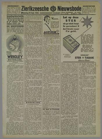 Zierikzeesche Nieuwsbode 1933-09-25