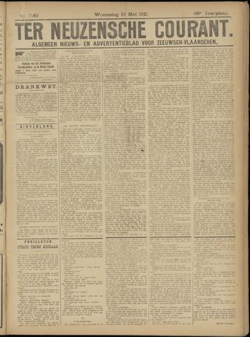 Ter Neuzensche Courant. Algemeen Nieuws- en Advertentieblad voor Zeeuwsch-Vlaanderen / Neuzensche Courant ... (idem) / (Algemeen) nieuws en advertentieblad voor Zeeuwsch-Vlaanderen 1921-05-25