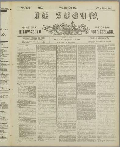 De Zeeuw. Christelijk-historisch nieuwsblad voor Zeeland 1910-05-20