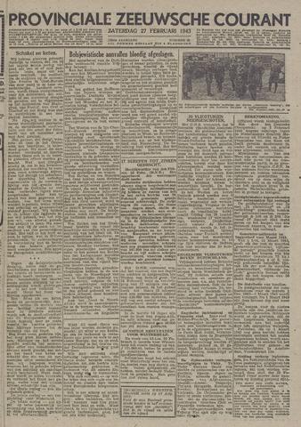 Provinciale Zeeuwse Courant 1943-02-27