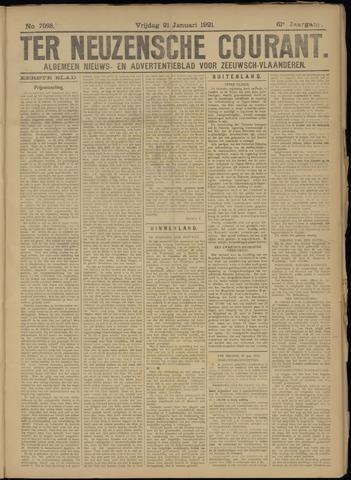 Ter Neuzensche Courant. Algemeen Nieuws- en Advertentieblad voor Zeeuwsch-Vlaanderen / Neuzensche Courant ... (idem) / (Algemeen) nieuws en advertentieblad voor Zeeuwsch-Vlaanderen 1921-01-21