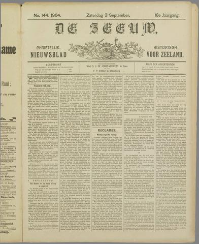De Zeeuw. Christelijk-historisch nieuwsblad voor Zeeland 1904-09-03