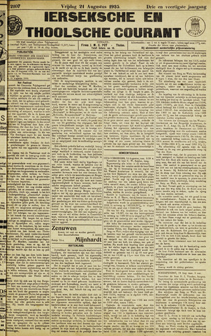 Ierseksche en Thoolsche Courant 1925-08-21