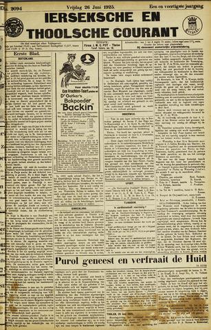 Ierseksche en Thoolsche Courant 1925-06-26