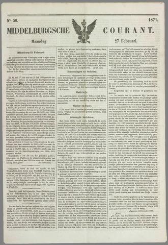 Middelburgsche Courant 1871-02-27