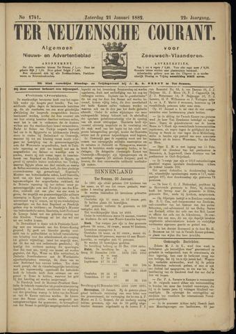 Ter Neuzensche Courant. Algemeen Nieuws- en Advertentieblad voor Zeeuwsch-Vlaanderen / Neuzensche Courant ... (idem) / (Algemeen) nieuws en advertentieblad voor Zeeuwsch-Vlaanderen 1882-01-21