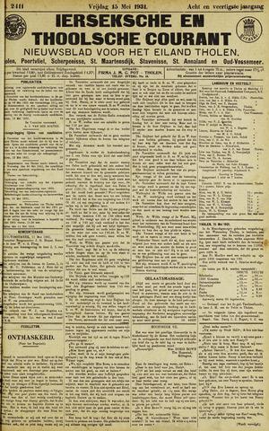Ierseksche en Thoolsche Courant 1931-05-15
