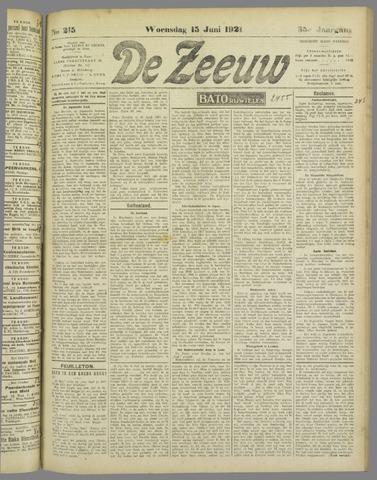 De Zeeuw. Christelijk-historisch nieuwsblad voor Zeeland 1921-06-15