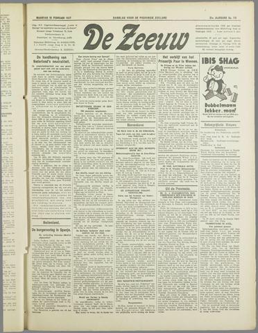 De Zeeuw. Christelijk-historisch nieuwsblad voor Zeeland 1937-02-15